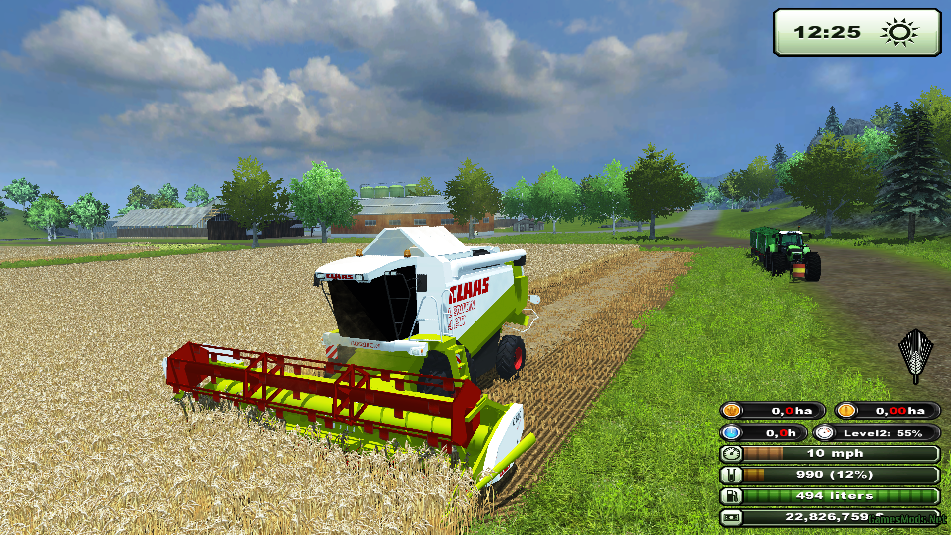 Claas Lexion420 c600 cutting