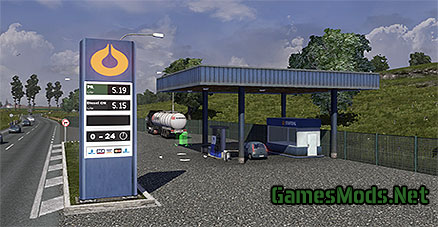 Realistic fuel stations