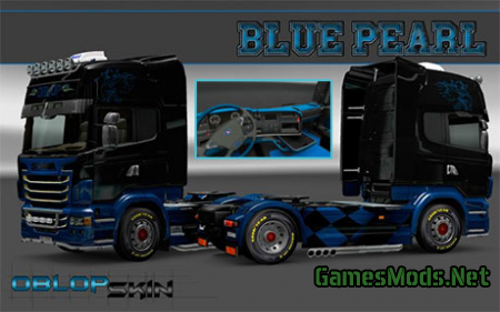 Blue Pearl skin for Scania