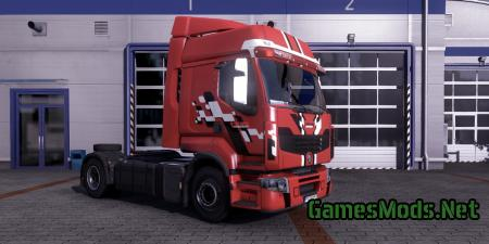 SKINS RENAULT PREMIUM RED AND WHITE