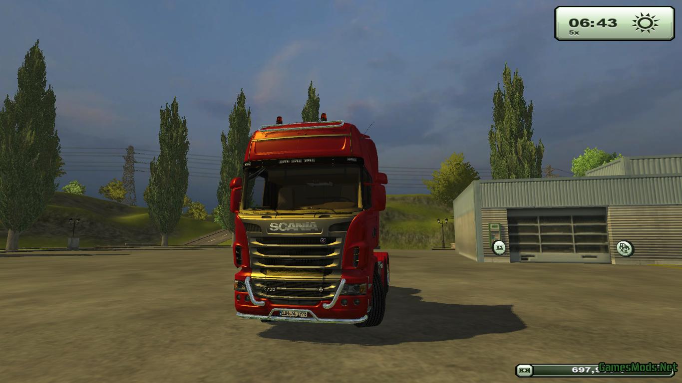 Scania r730 topline red