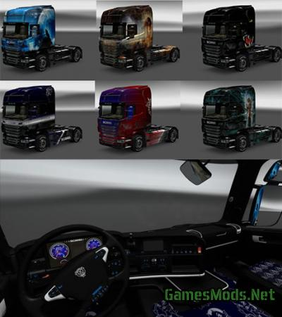 Scania skins with interiors