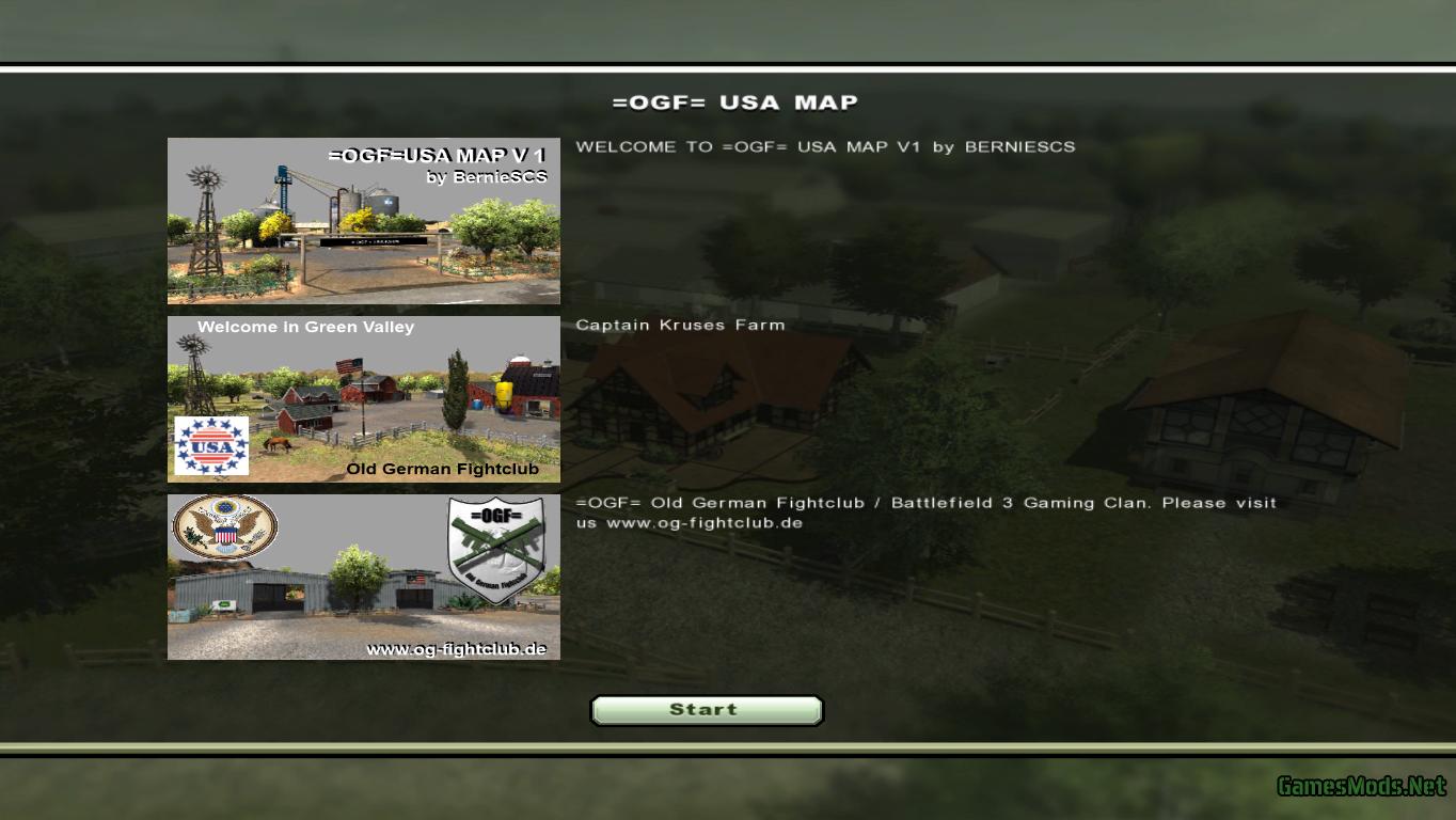 Map Usa Farming Simulator 2013%0A OGF USA MAP V