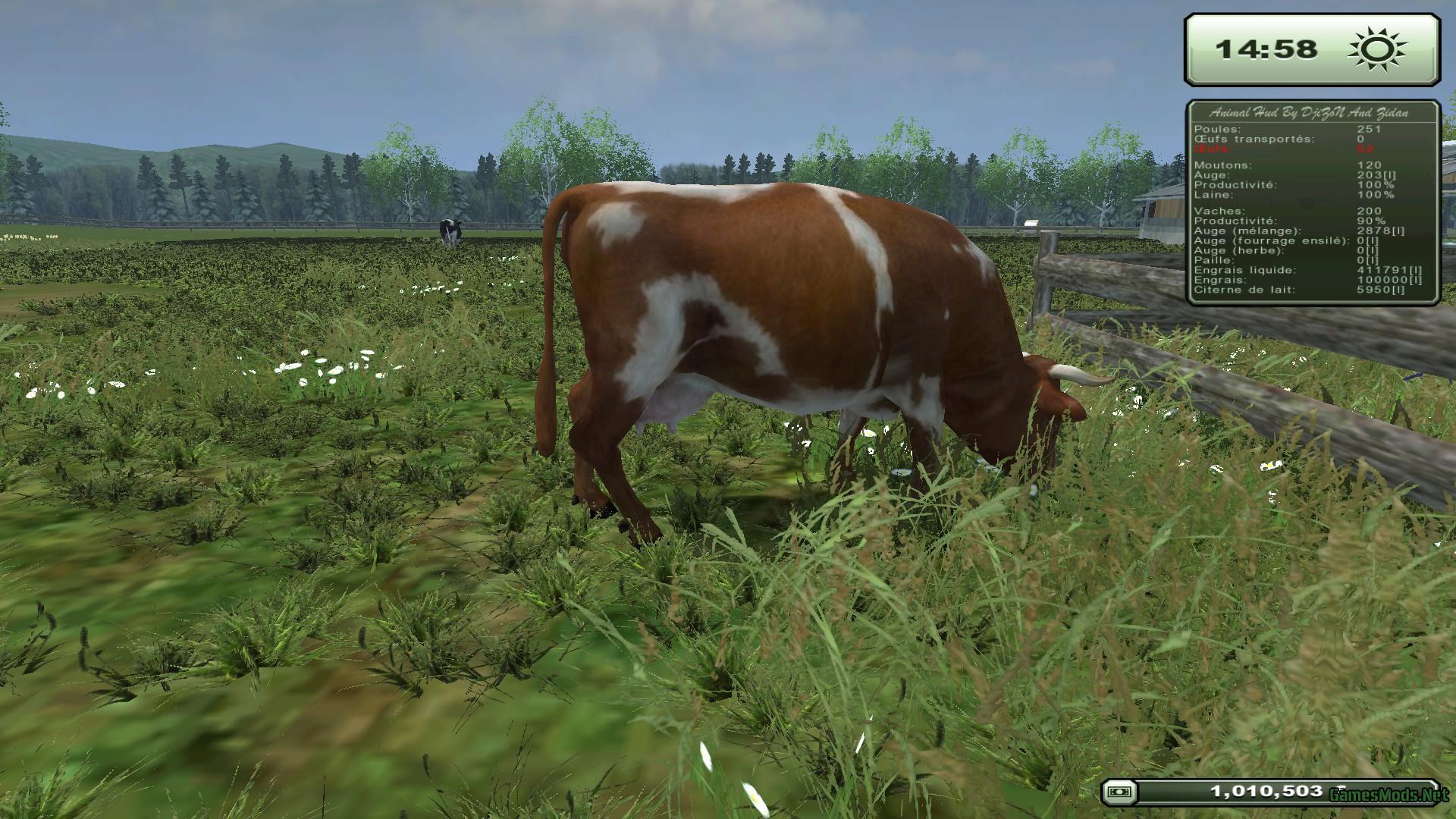 animal hud v2 2 gamesmods net fs19 fs17 ets 2 mods