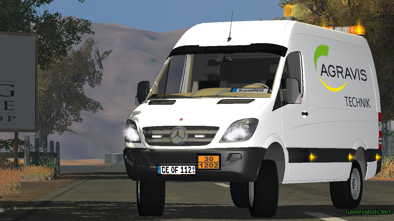 Mercedes Benz Sprinter >> MERCEDES BENZ SPRINTER 311CDI V 2 » GamesMods.net - FS17, CNC, FS15, ETS 2 mods