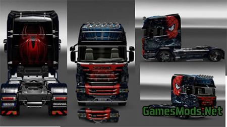 Scania R Spiderman skin
