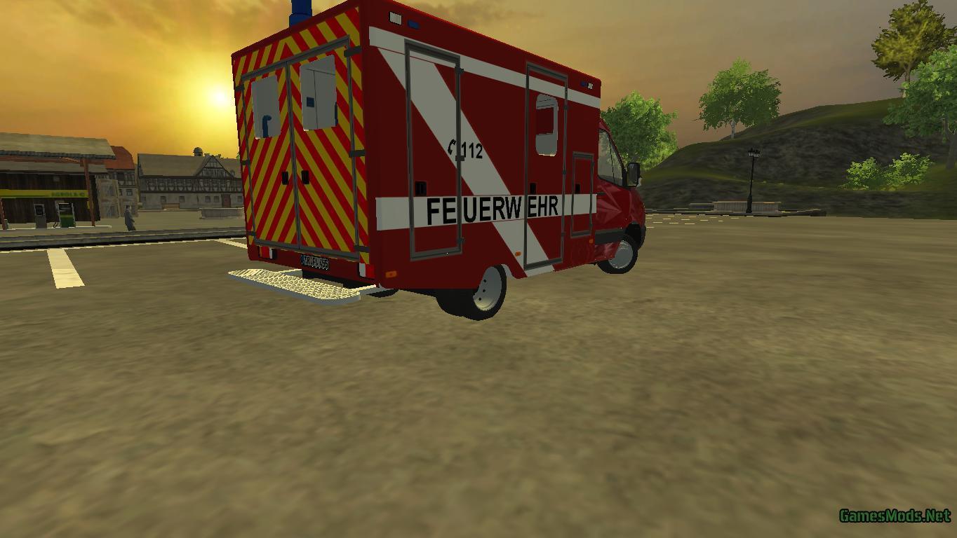 Sprinter Rtw Feuerwehr V 1 0 Mp 187 Gamesmods Net Fs19