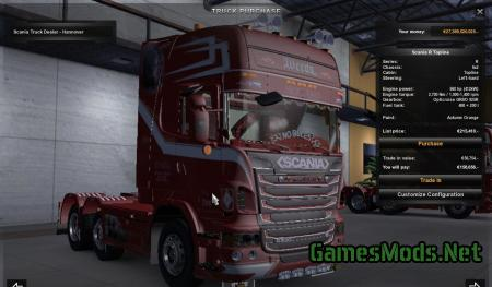 "Scania New R500 Topline Weeda ""Son of Monarchy"" Showtruck"