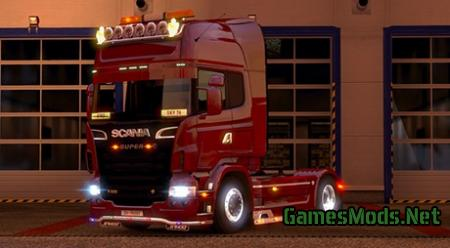 Sun Visor for Scania V8 Truck