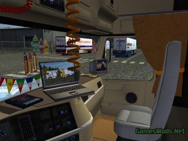 Volvo fh16 interior by boy fs19 fs17 ets 2 mods for Volvo semi truck interior accessories