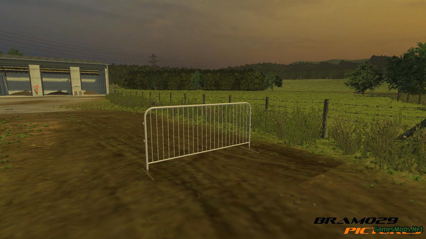 Barrier Fence 187 Gamesmods Net Fs19 Fs17 Ets 2 Mods