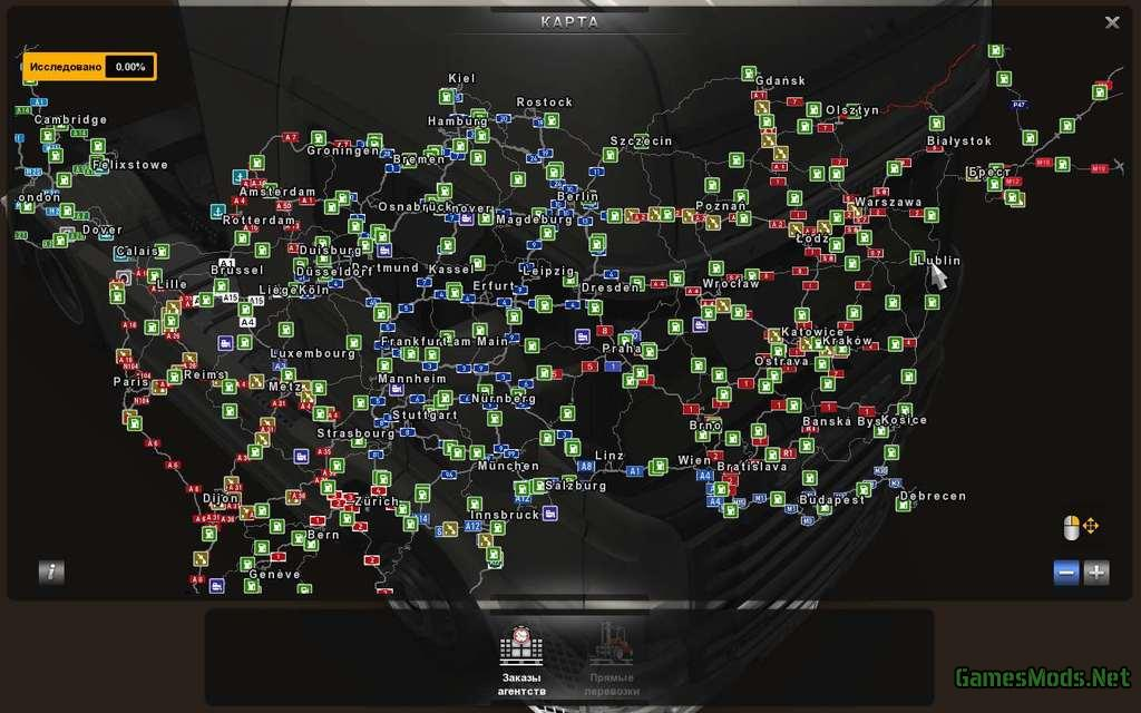 Maps Ets 2 » Page 36: America Map For Euro Truck Simulator 2 At Usa Maps