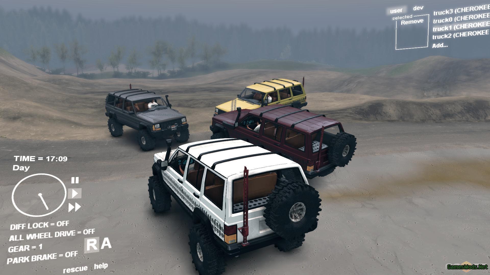 Jeep Cherokee Xj >> Jeep Cherokee XJ » GamesMods.net - FS17, CNC, FS15, ETS 2 mods