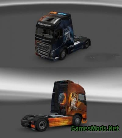 Volvo FH16 2012 Fire & Ice Skin
