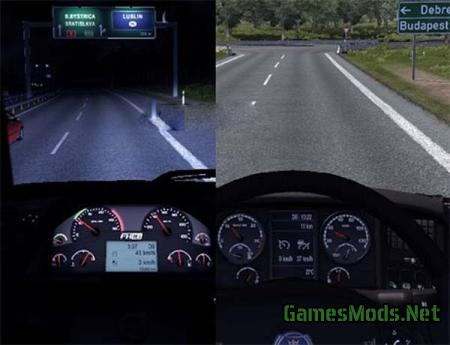 Volvo FH16 & Scania R – Speed on display v 1.1
