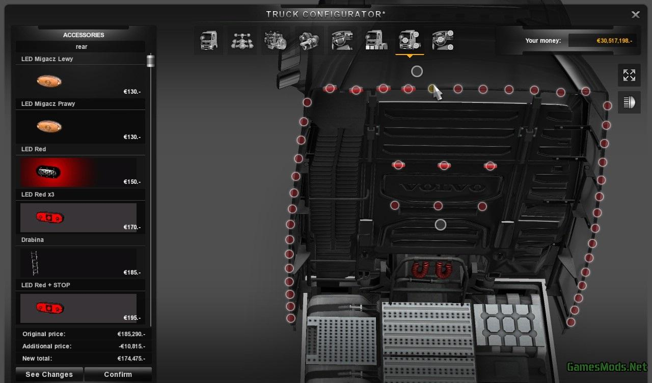 American Truck Parts >> New Volvo FH Mega Tuning + Interior Addons » GamesMods.net ...