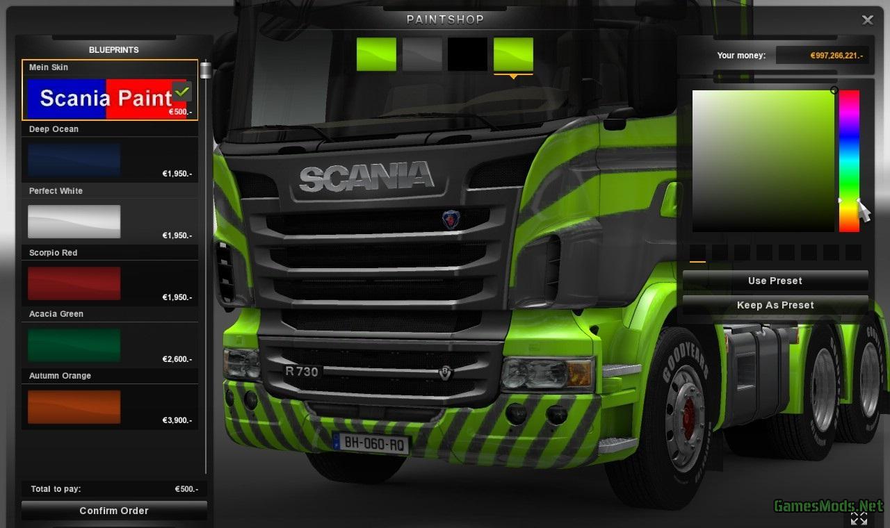 Scania paint job by pauke2004 fs17 cnc for Car paint simulator