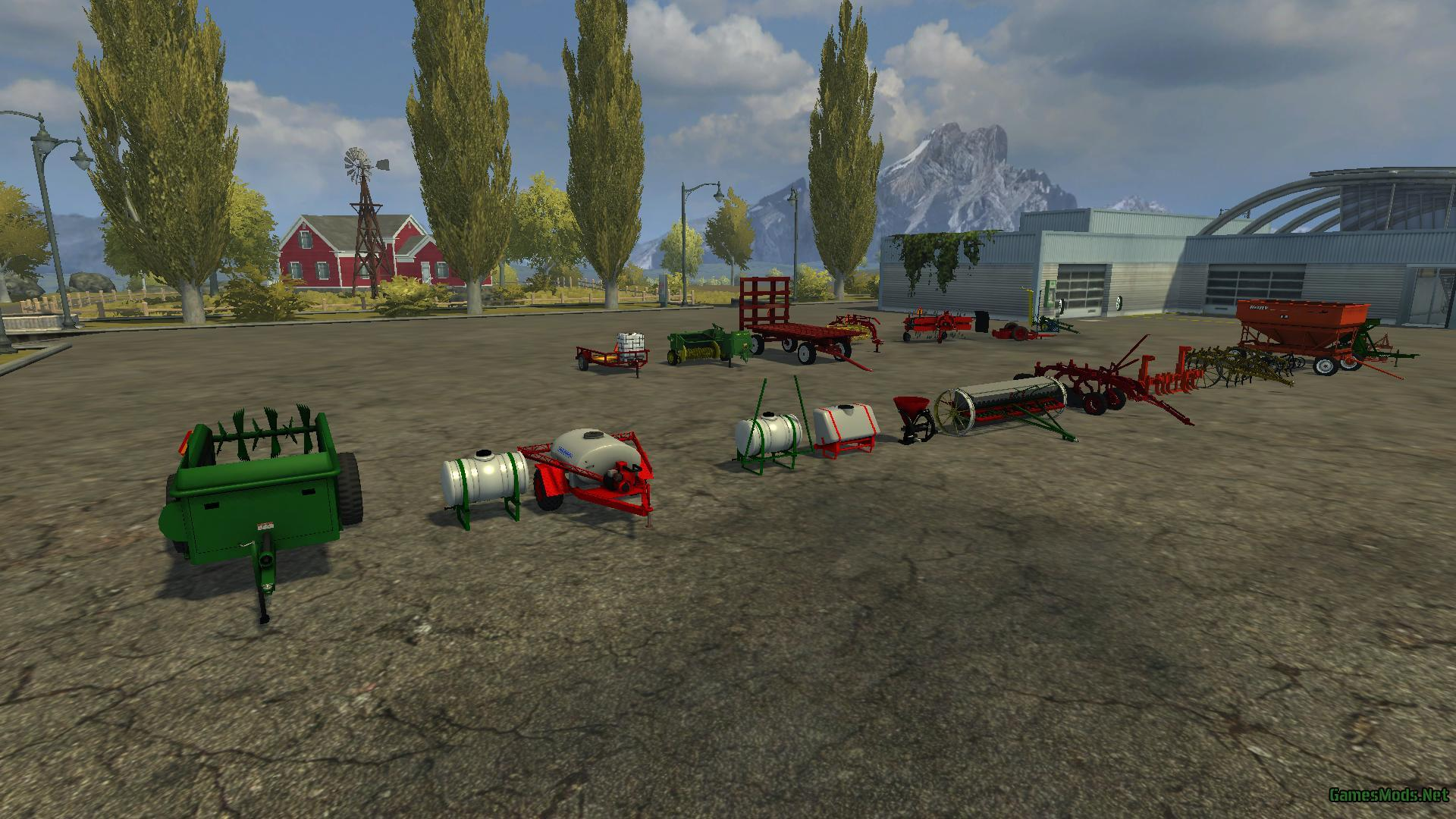 More realistic small farm implement pack