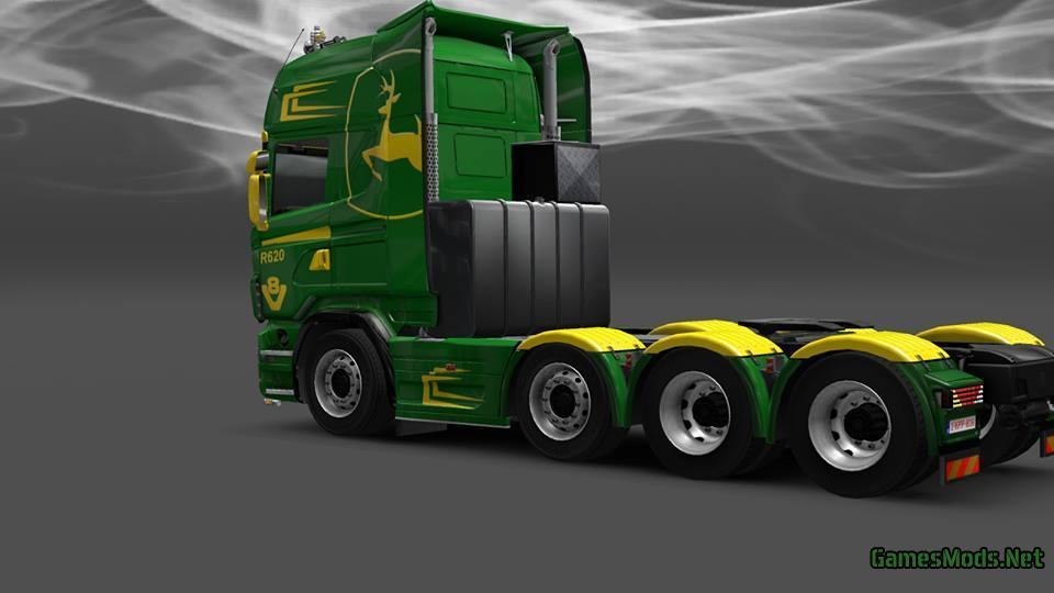 Scania John Deere Skin  U00bb Gamesmods Net