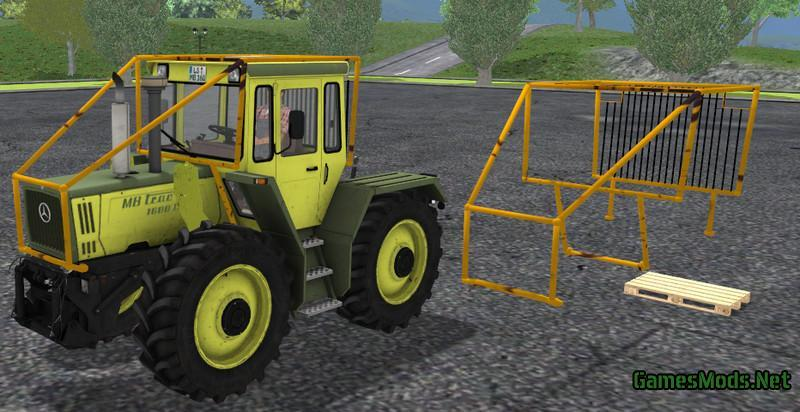 FORSTKAEFIG FOR MB TRAC 1600 TURBO V1 0 » GamesMods net - FS19, FS17