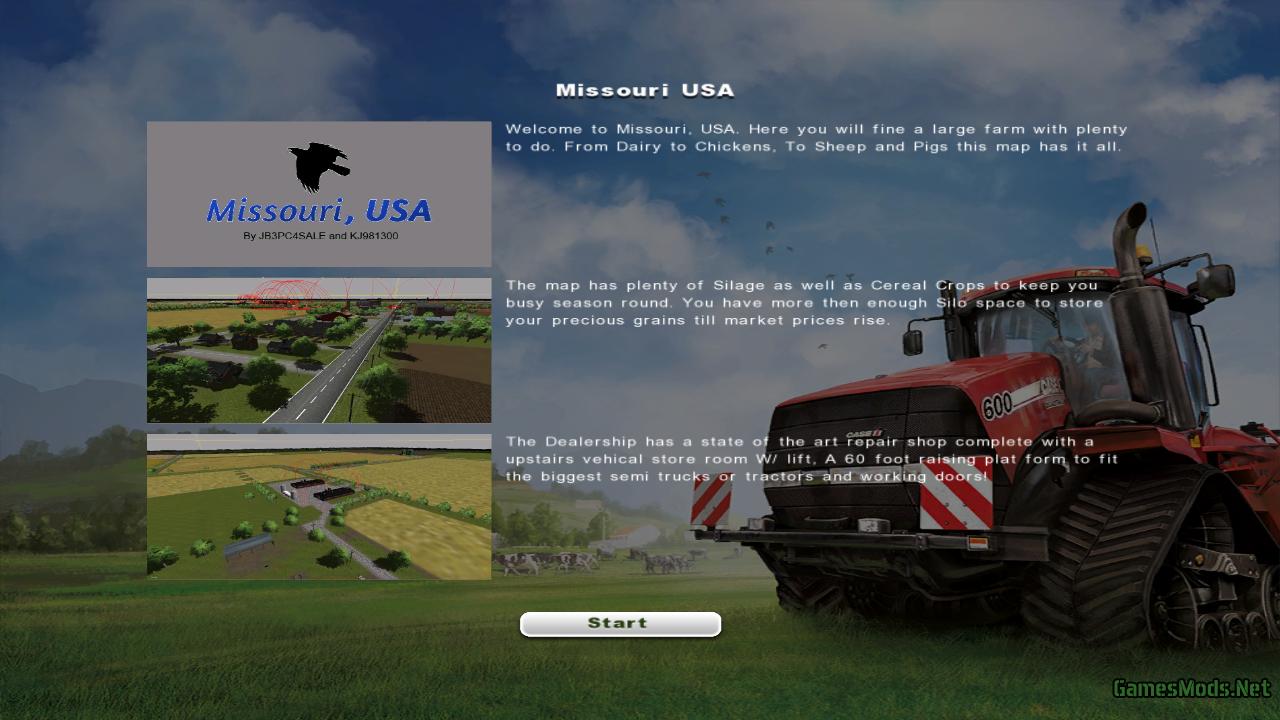 Missouri USA Map GamesModsnet FS17 CNC FS15 ETS 2 mods