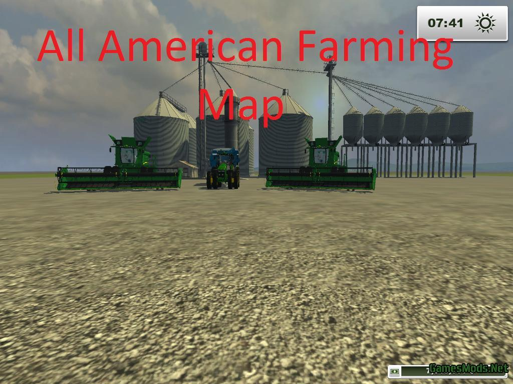 Farming Simulator 17 American Map.All American Farming Map Gamesmods Net Fs19 Fs17 Ets 2 Mods