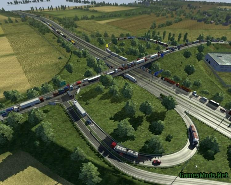 Stau Mod Traffic Jam v 1 9 22 » GamesMods net - FS19, FS17, ETS 2 mods