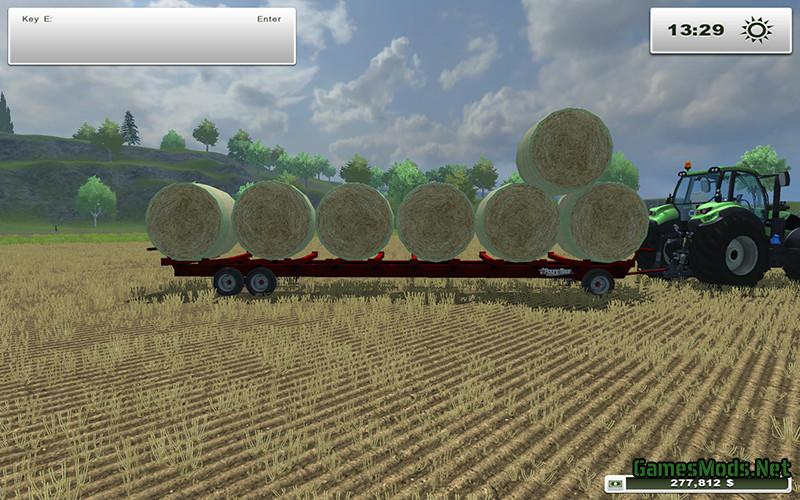 JBM Round Bale Trailer V 1 0 Fixed » GamesMods net - FS19, FS17, ETS