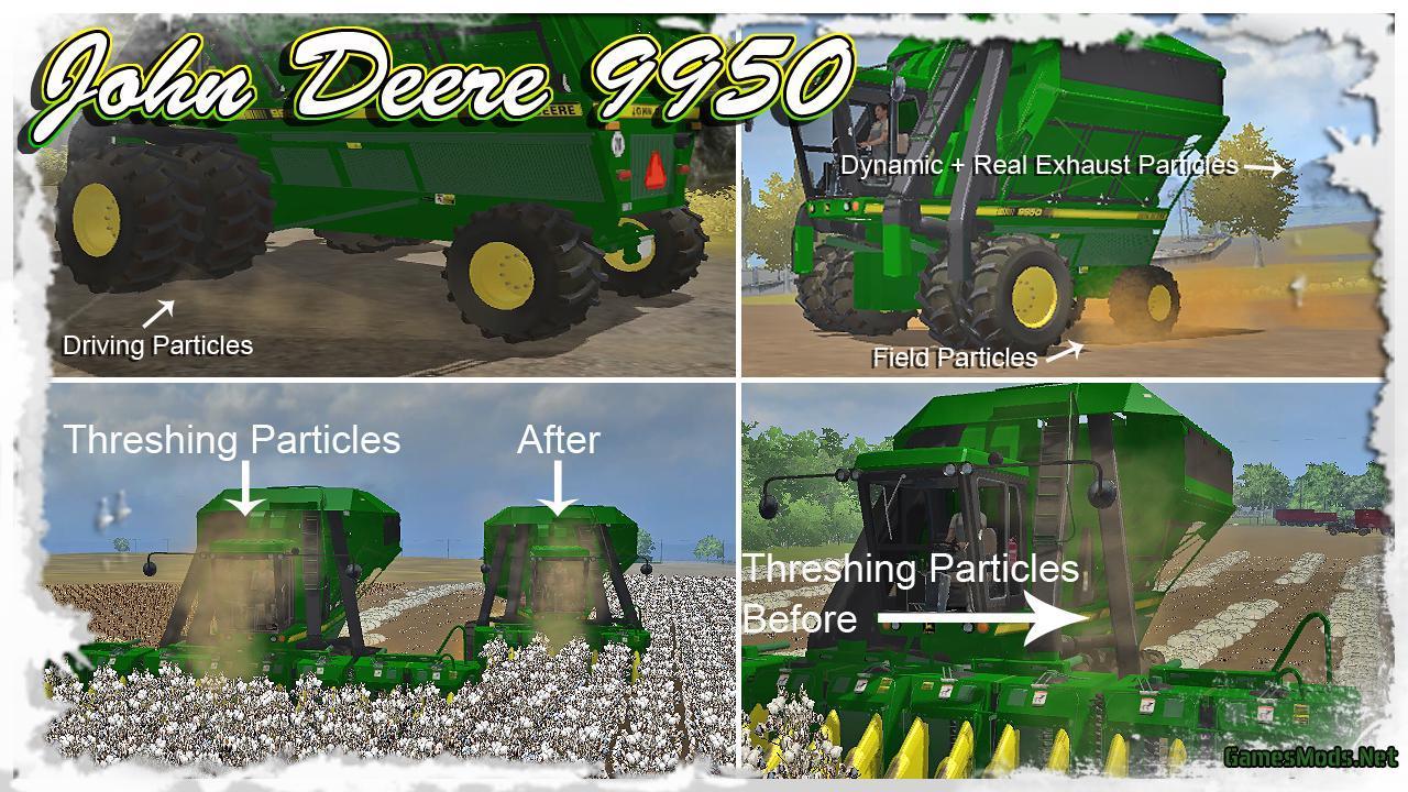 John Deere 9950 Cotton Harvester V1 2 » GamesMods net - FS19, FS17