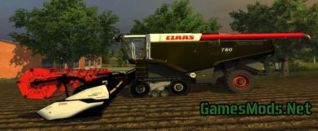 Claas Lexion 780 Terra Trac Black Edition Pack