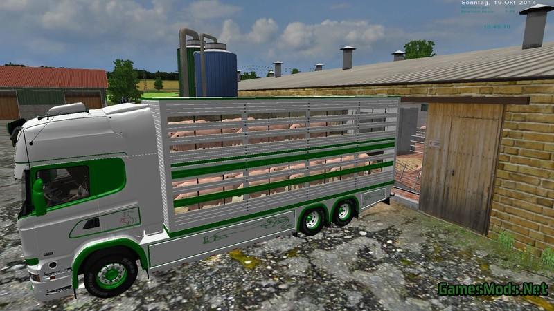 scania viehtransport set v 1 0 gamesmods     fs17 cnc