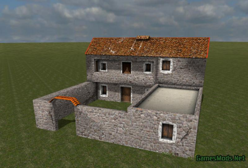 Medieval greek house v 1 0 fs17 cnc for House building simulator online