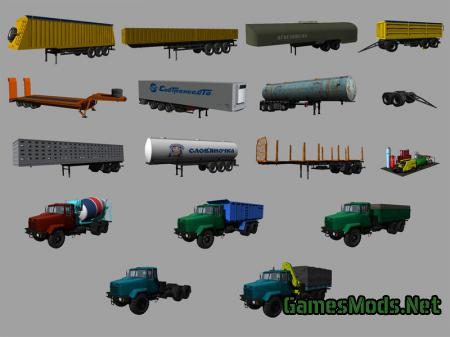 KrAZ and Trailers Pack v 2.1