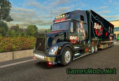 VOLVO VNL 670 HARLEY QUINN SKIN JUMBO + TRAILER » GamesMods.net - FS19, FS17, ETS 2 mods
