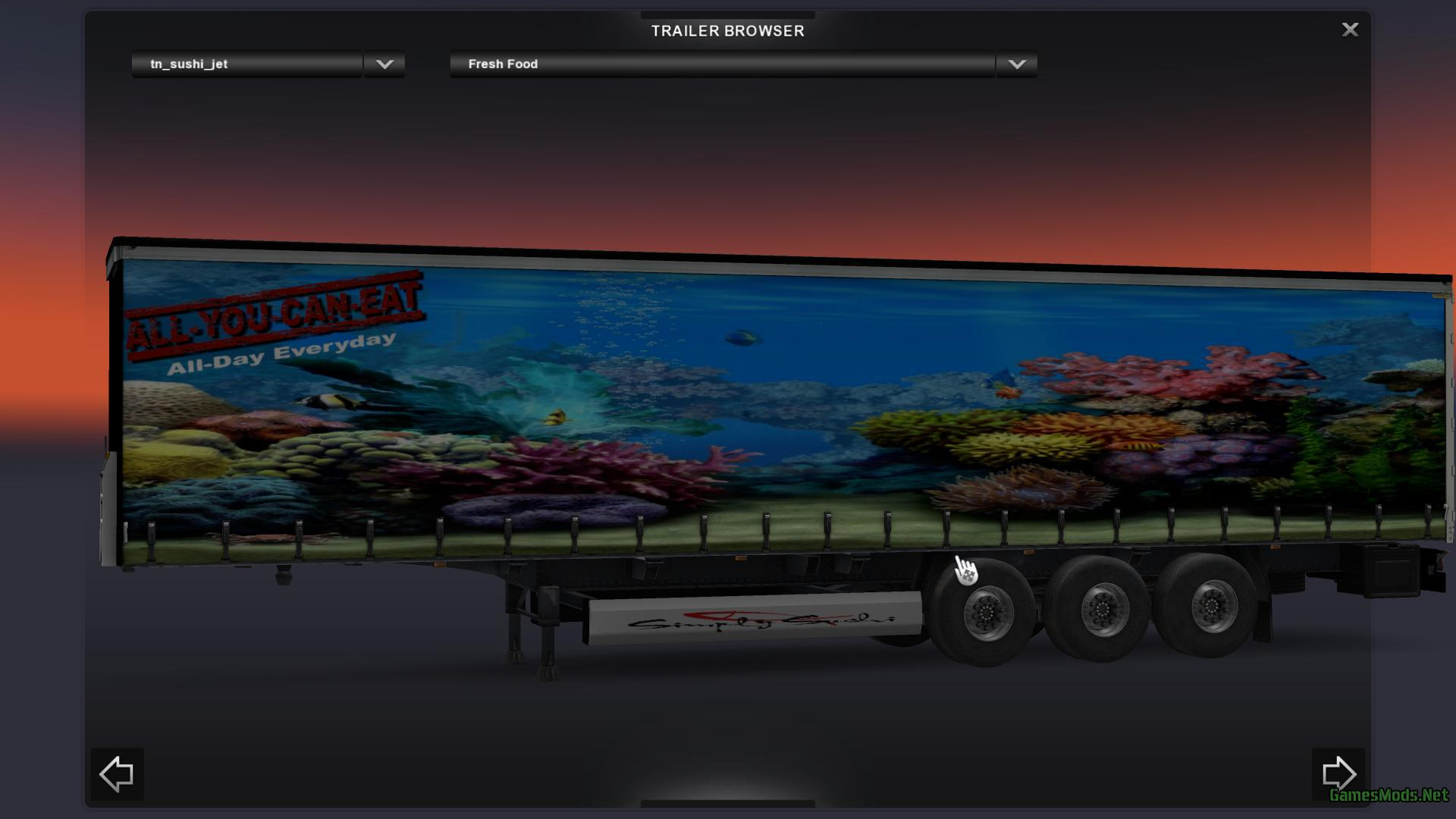 Sushi trailer skin v1 fs17 cnc fs15 for Fish tank trailer