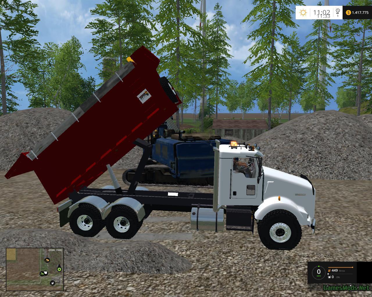 Kenworth dump V2 » GamesMods.net - FS19, FS17, ETS 2 modsKenworth Dump Trucks Fs19