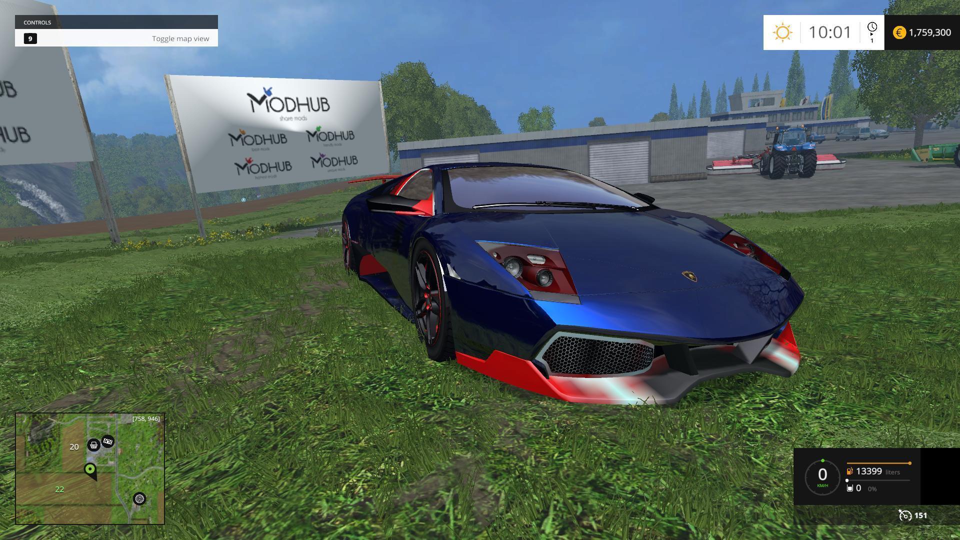 Lamborghini Murcielago Blue V1 187 Gamesmods Net Fs17 Cnc