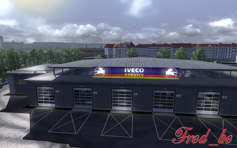 Big garage iveco 1 2 fs17 cnc fs15 for Garage iveco limoges