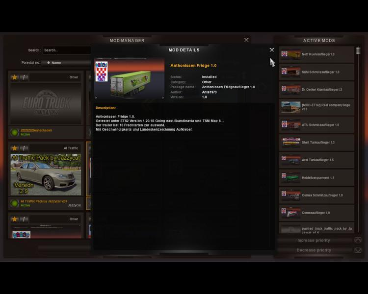ANTHONISSEN FRIDGE TRAILER V1 0 ETS2 » GamesMods net - FS19