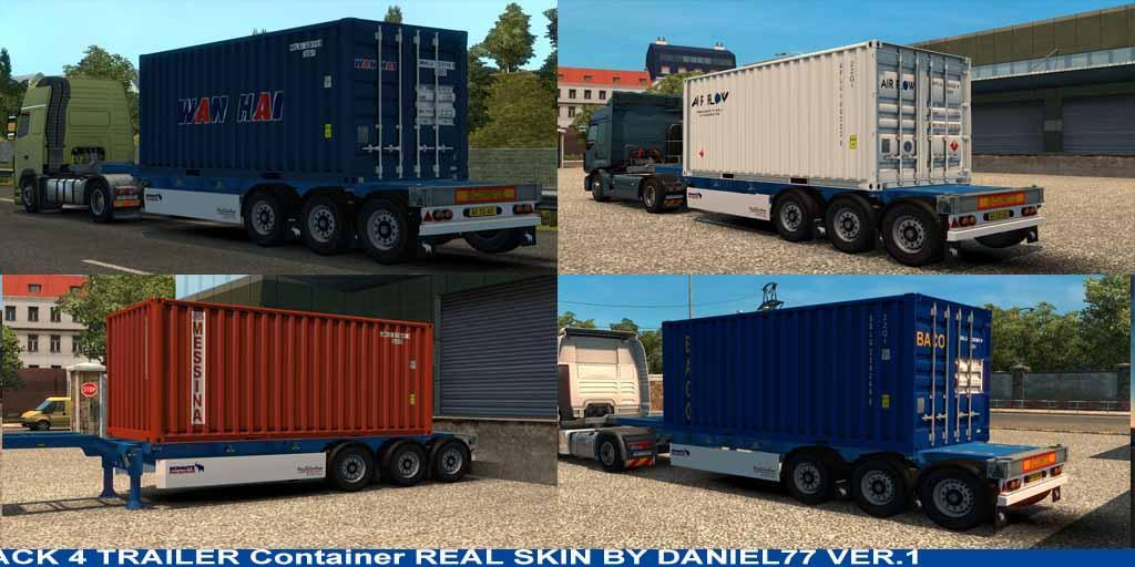 4 Trailer Container 20 Ft Skins Real V1 187 Gamesmods Net