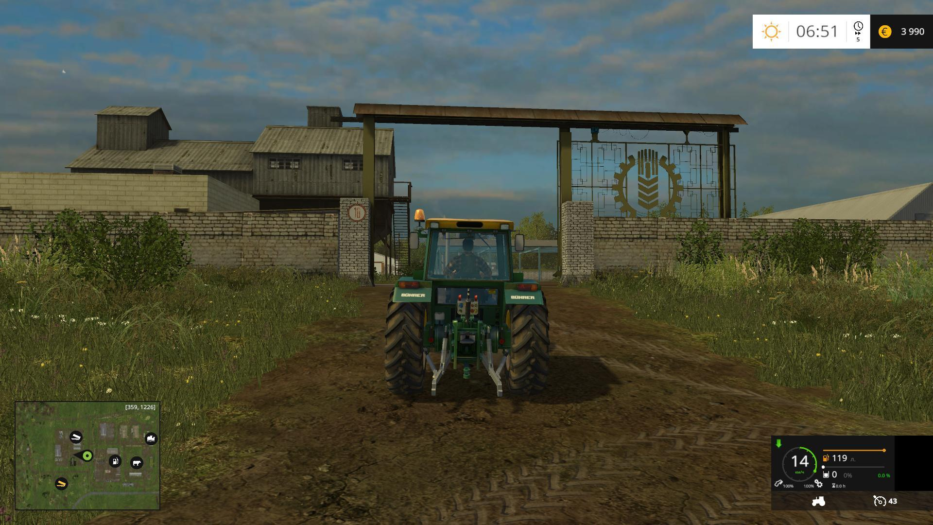 Map middle stripe of russia fs17 cnc for The russian mod