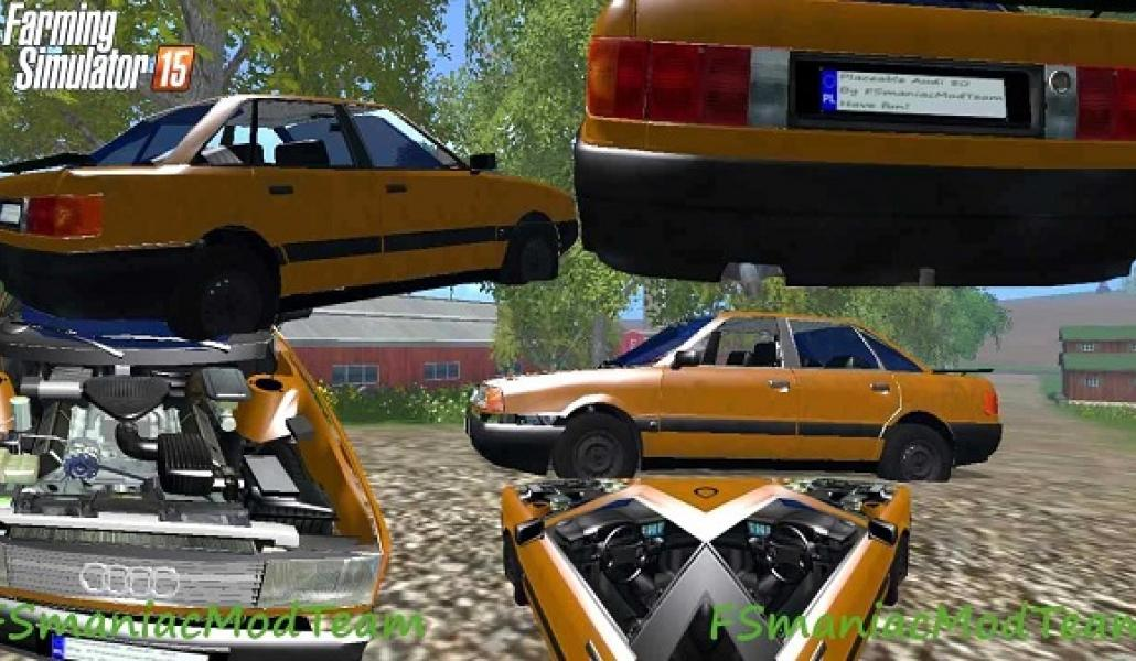 Placeable Audi 80 Gamesmodsnet Fs19 Fs17 Ets 2 Mods