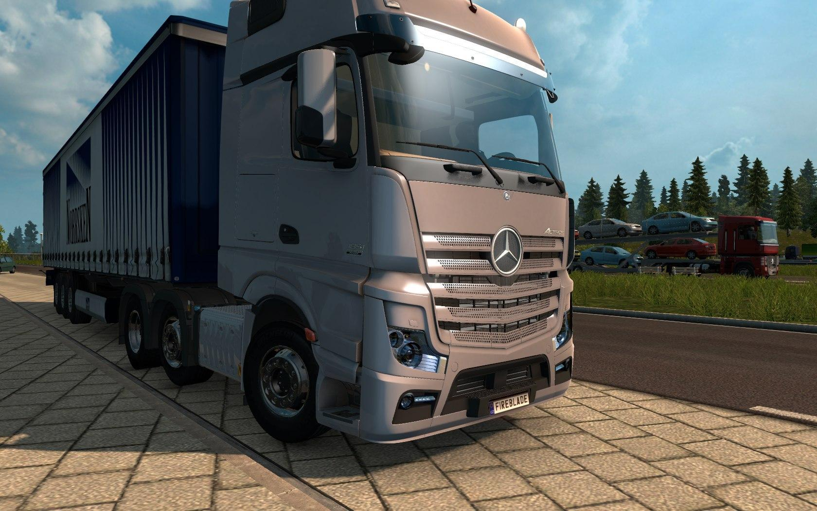 mercedes actros mp4 fs17 cnc fs15 ets 2 mods. Black Bedroom Furniture Sets. Home Design Ideas