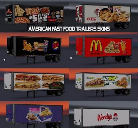 American Fast Food Trailers Skins