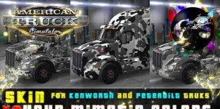 3x Your Mimetic Colors Skin for Kenworth and Peterbilt Trucks