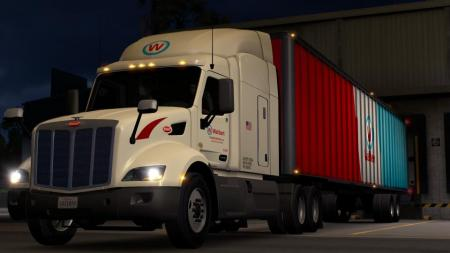 PETERBILT 579 WALLBERT TRANSPORTATION LLC SKIN