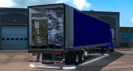 NEW LONG ANIMATION BLUE REEFER TRAILER