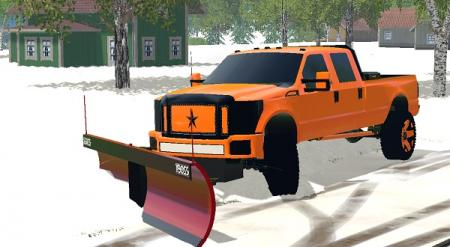 Boss V-Plow And Ford F250 Plow Truck