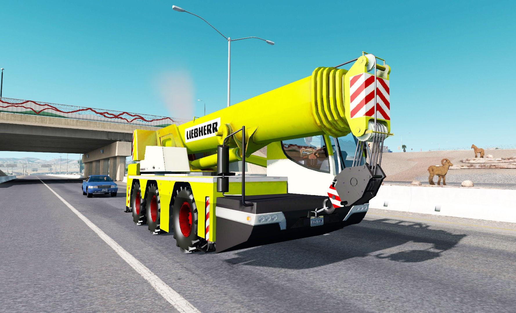Mobile crane Liebherr in traffic » GamesMods net - FS19, FS17, ETS 2