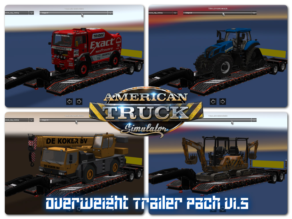 60812 Overweight Trailers 31 Cargo on trailer parts